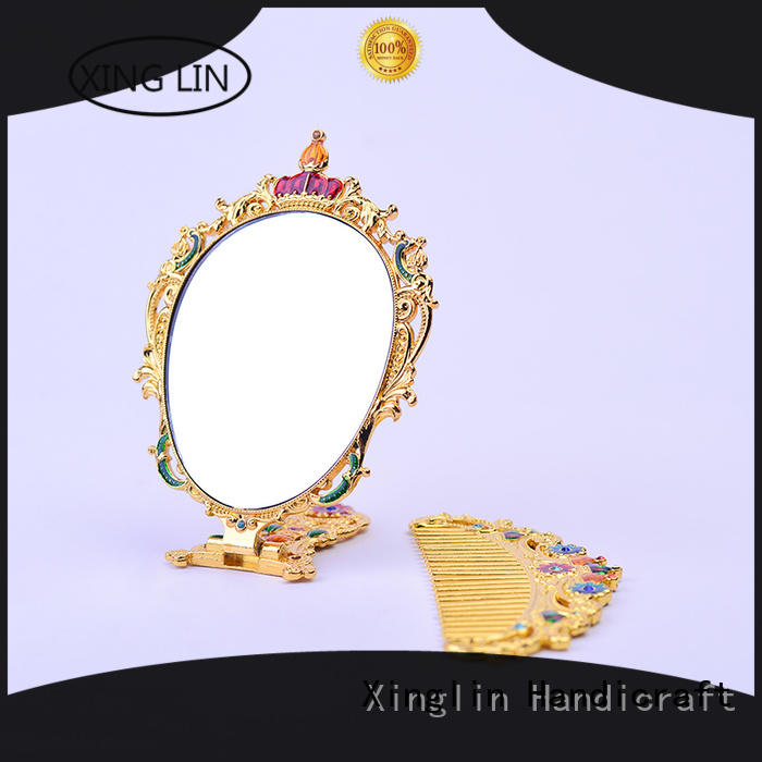 Xinglin Brand modeling metal brush comb and mirror set manufacture