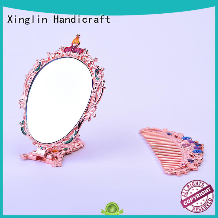design hollow engraving Xinglin Brand brush comb and mirror set