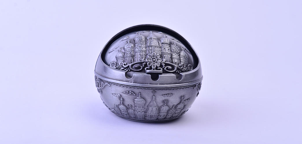 Xinglin Brand carved zinc vintage cigarette ashtray quality supplier