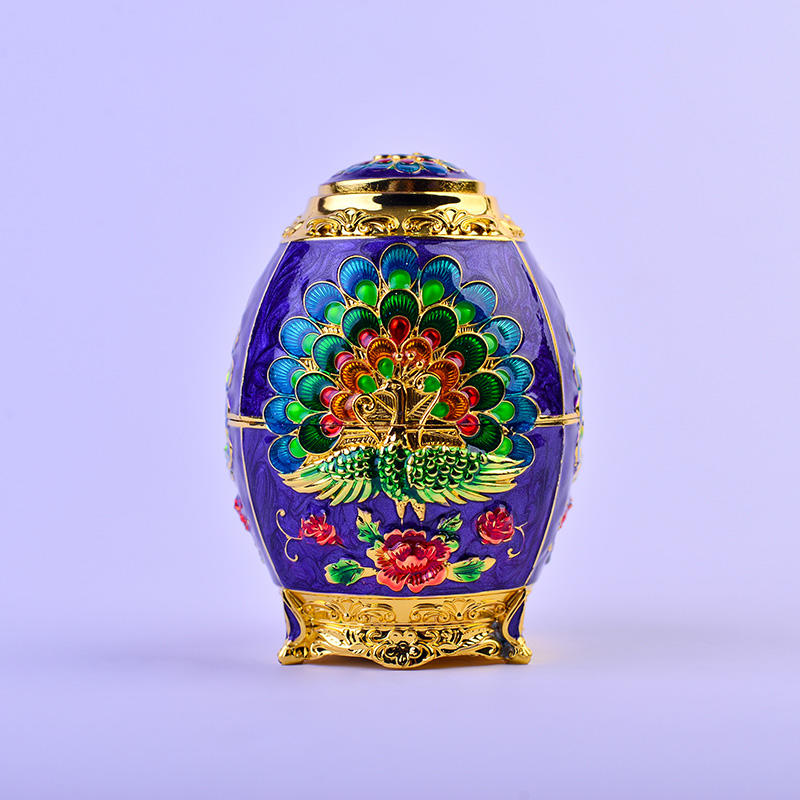 European Peacock Carved Automatic Toothpick Box