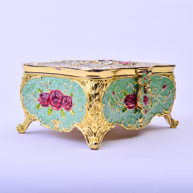 European fashion carved home decoration jewelry storage box