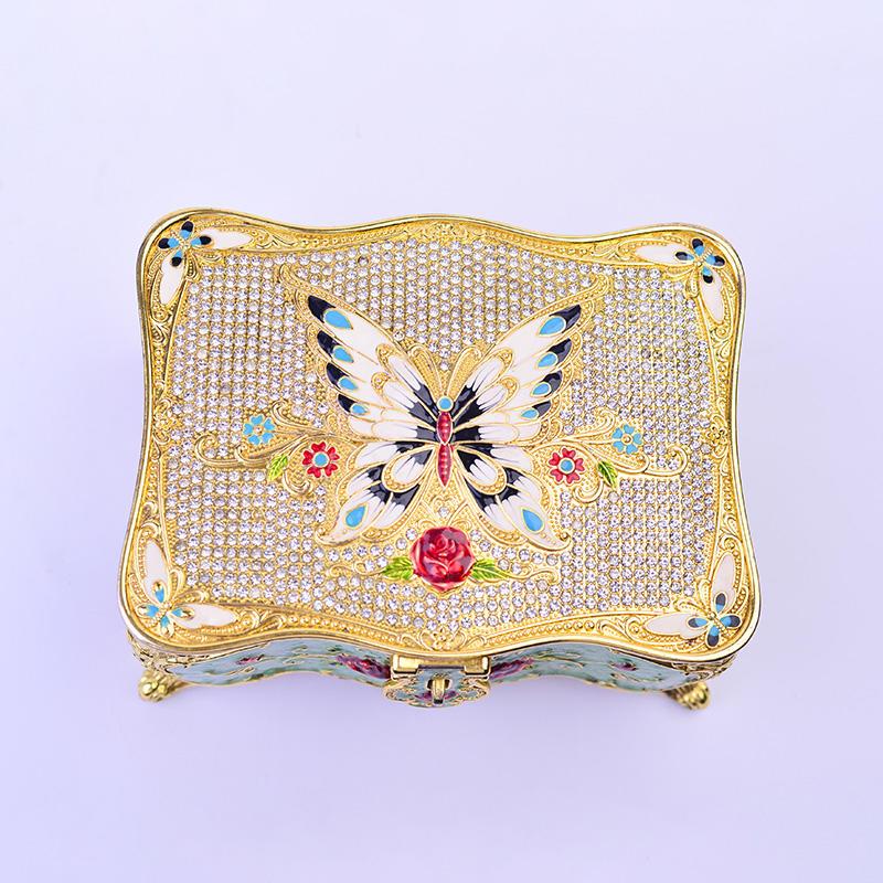 European three-dimensional jewelry storage box