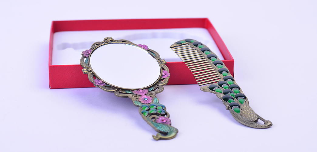 handle antique brush comb and mirror set hollow Xinglin Brand