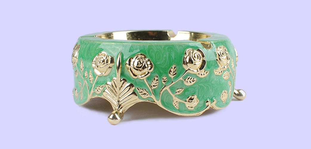 Xinglin Brand luxury rose antique ashtrays manufacture