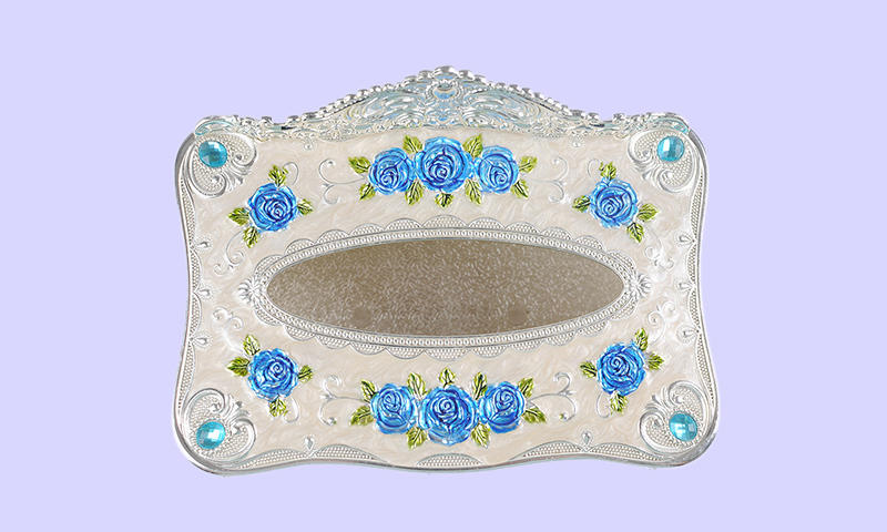 silver fine diamondencrusted Xinglin Brand fancy tissue box manufacture