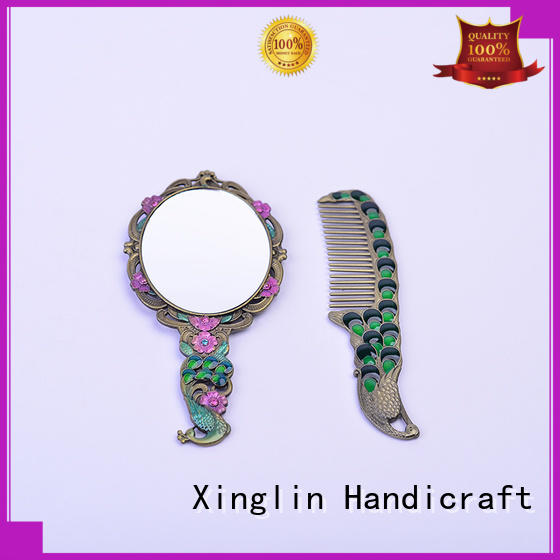 Xinglin Brand metal retro brush comb and mirror set castle factory