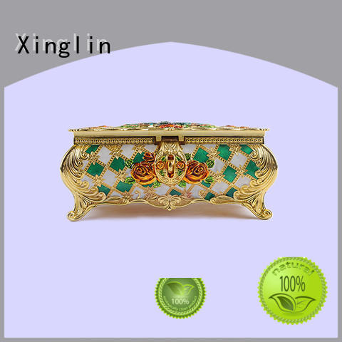 Hot metal jewelry box carved Xinglin Brand