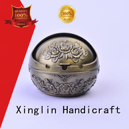 carved metal alloy Xinglin Brand vintage cigarette ashtray factory