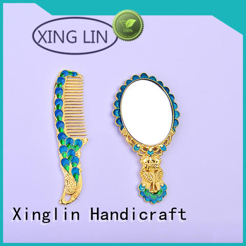 metal castle hollow Xinglin Brand brush comb and mirror set