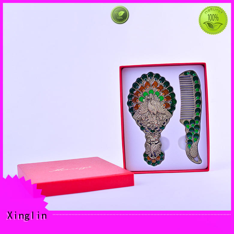 Hot vintage mirror and comb set engraving Xinglin Brand