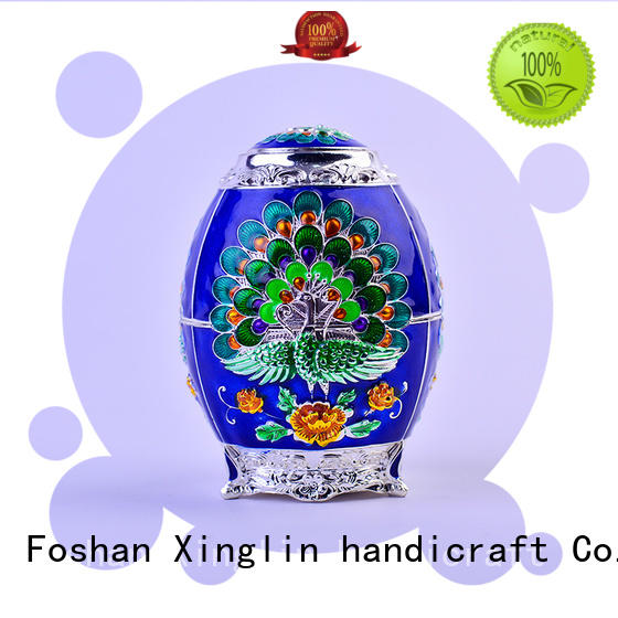 Xinglin Brand peacock rose metal antique toothpick holders