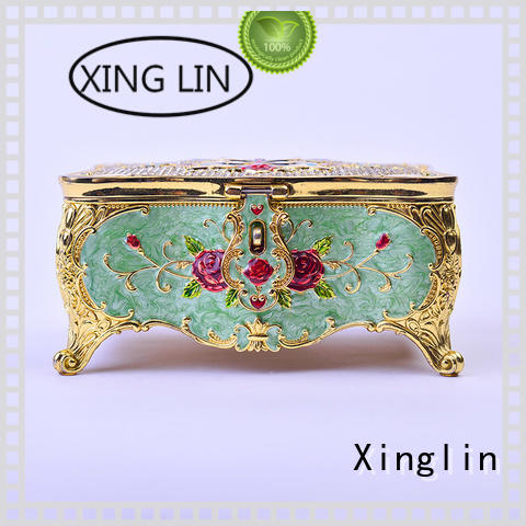 Custom home decoration metal jewelry box Xinglin storage