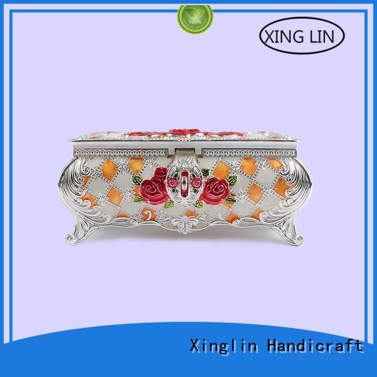 useful fashion metal jewelry box three dimensional Xinglin