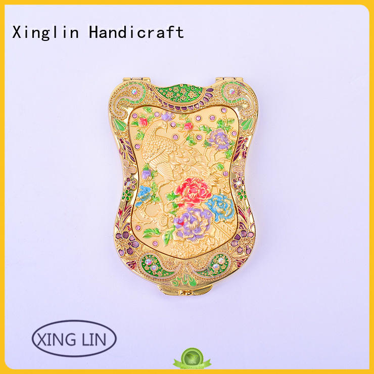 Xinglin large antique mirror and brush vanity set company for gift