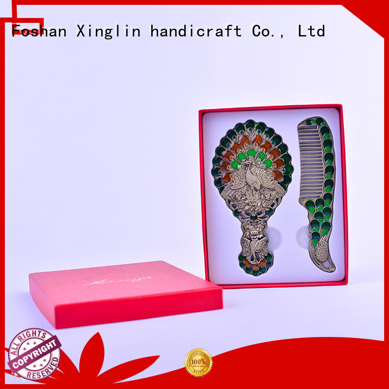 vintage mirror and comb set modeling metal Xinglin Brand