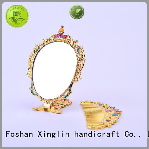 design hollow Xinglin Brand vintage mirror and comb set