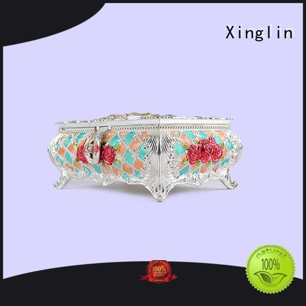 fashion storage metal jewelry box eco-friendly Xinglin company