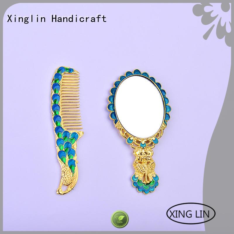 Wholesale european design brush comb and mirror set Xinglin Brand