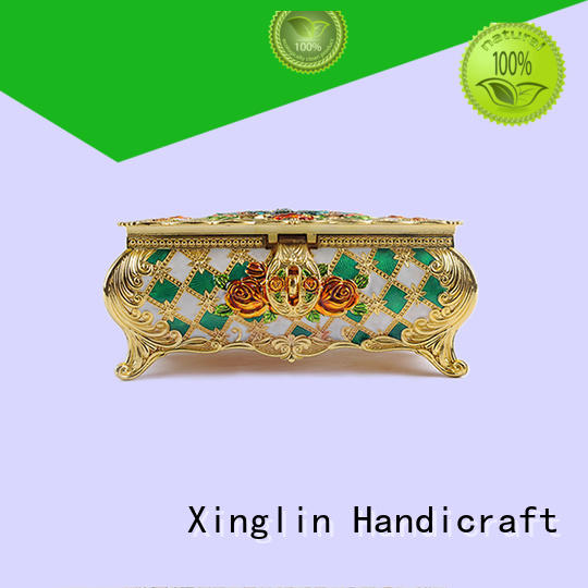 Xinglin Brand fashion three dimensional metal jewelry box useful factory