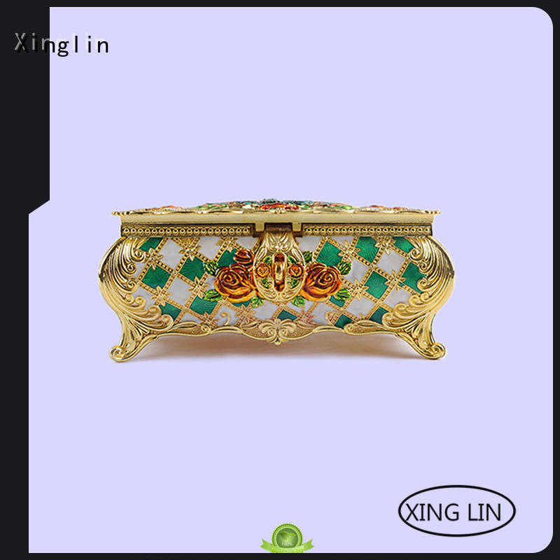 Wholesale home metal jewelry box Xinglin Brand