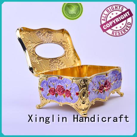 European style diamond-encrusted tissue box