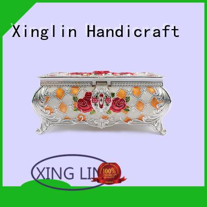 Quality Xinglin Brand fashion storage metal jewelry box