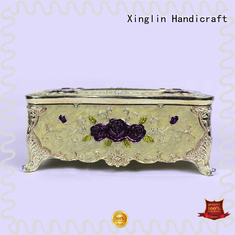 Xinglin carved silver tissue box for busniess for home