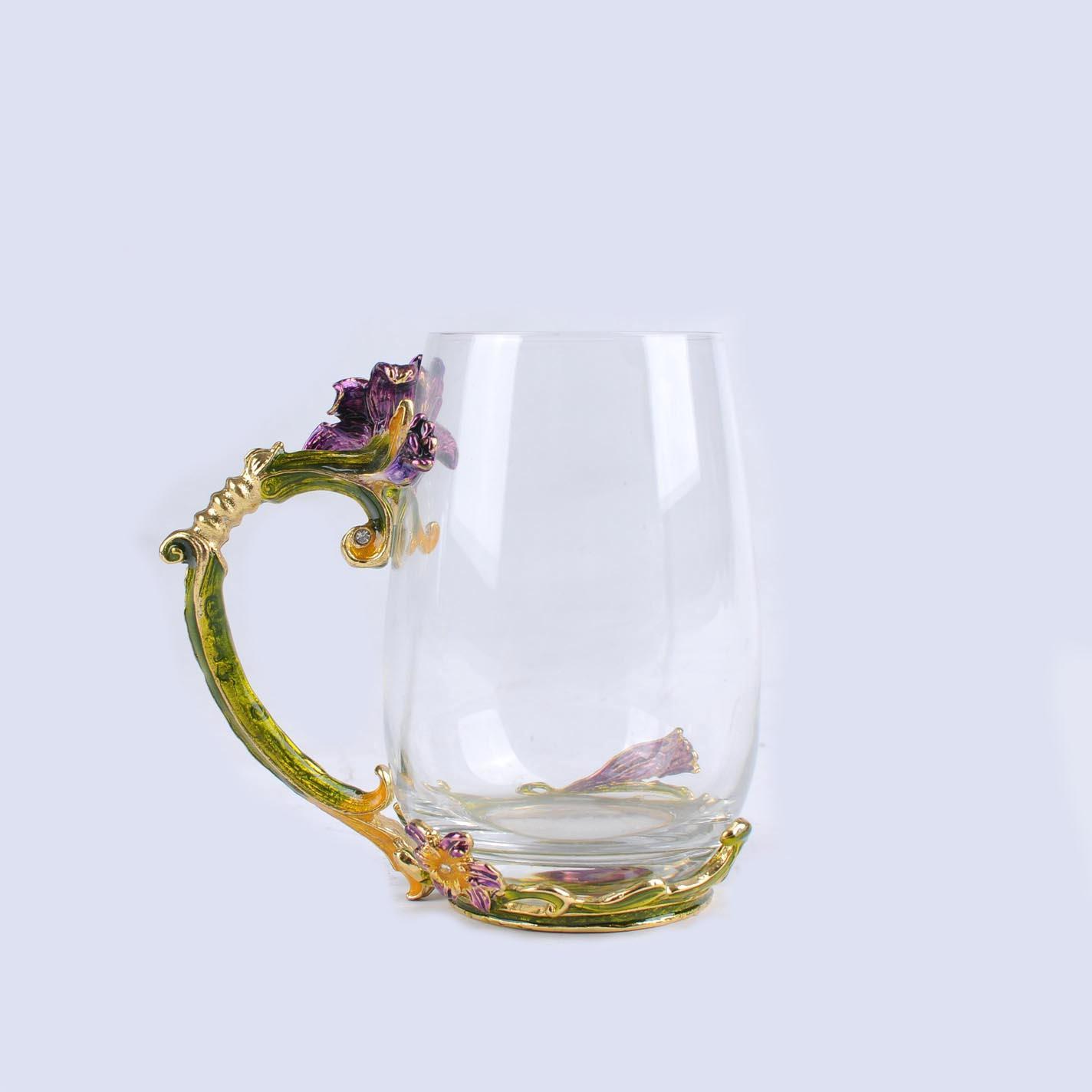 High quality transparent crystal glass