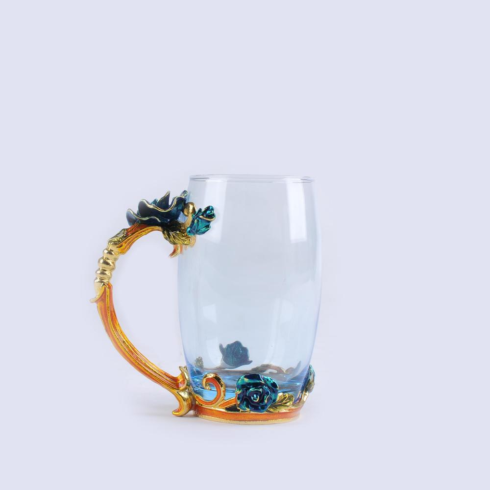 Stylish lead-free crystal glass cup