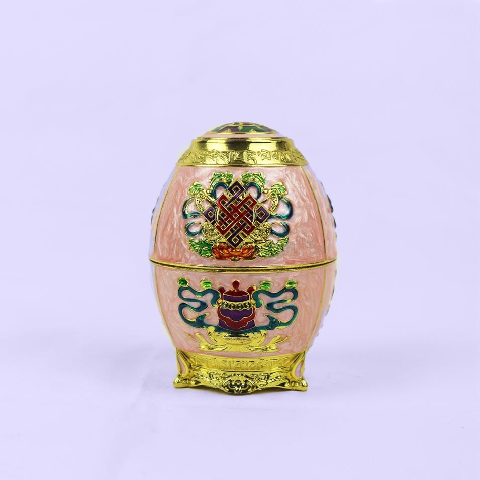 Chinese knot pattern egg shaped toothpick box
