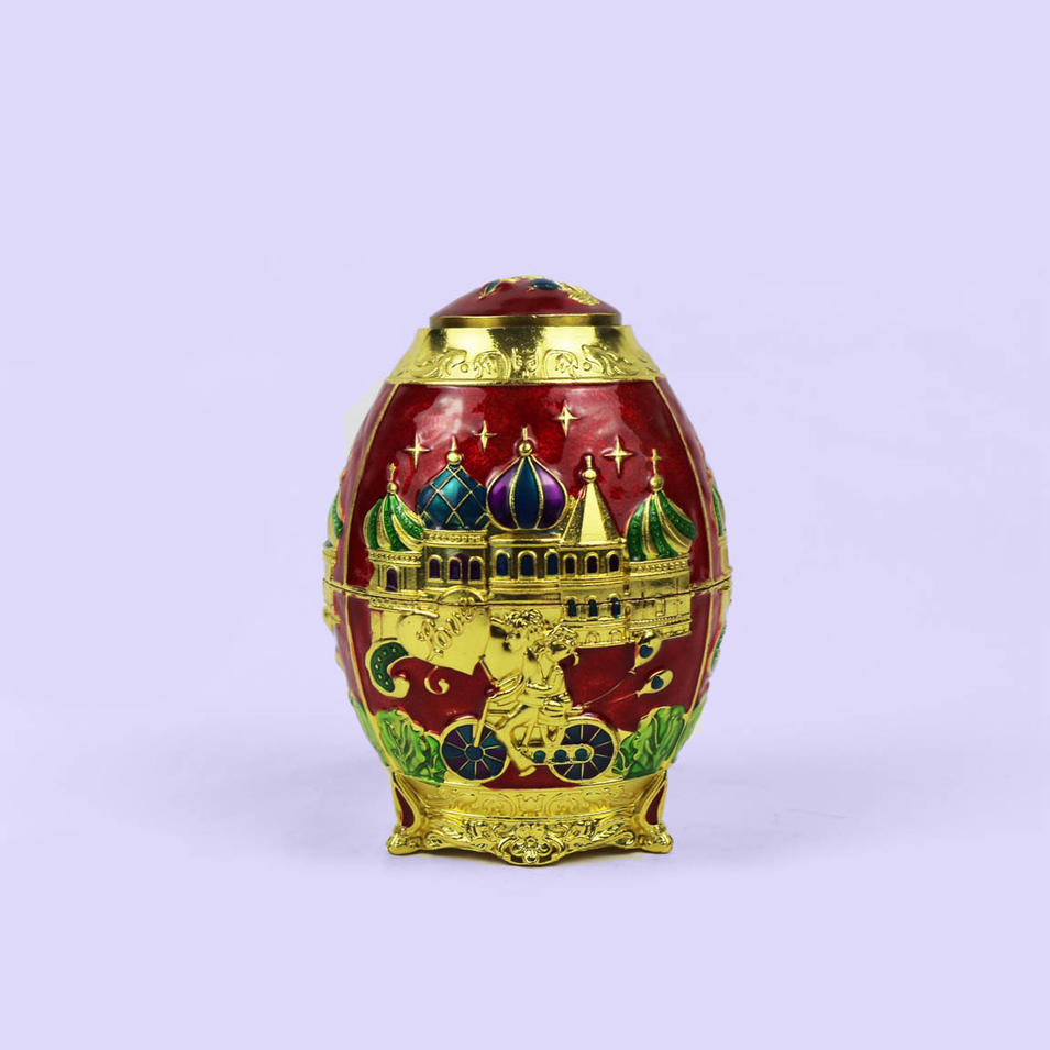 European retro purple egg shaped toothpick box