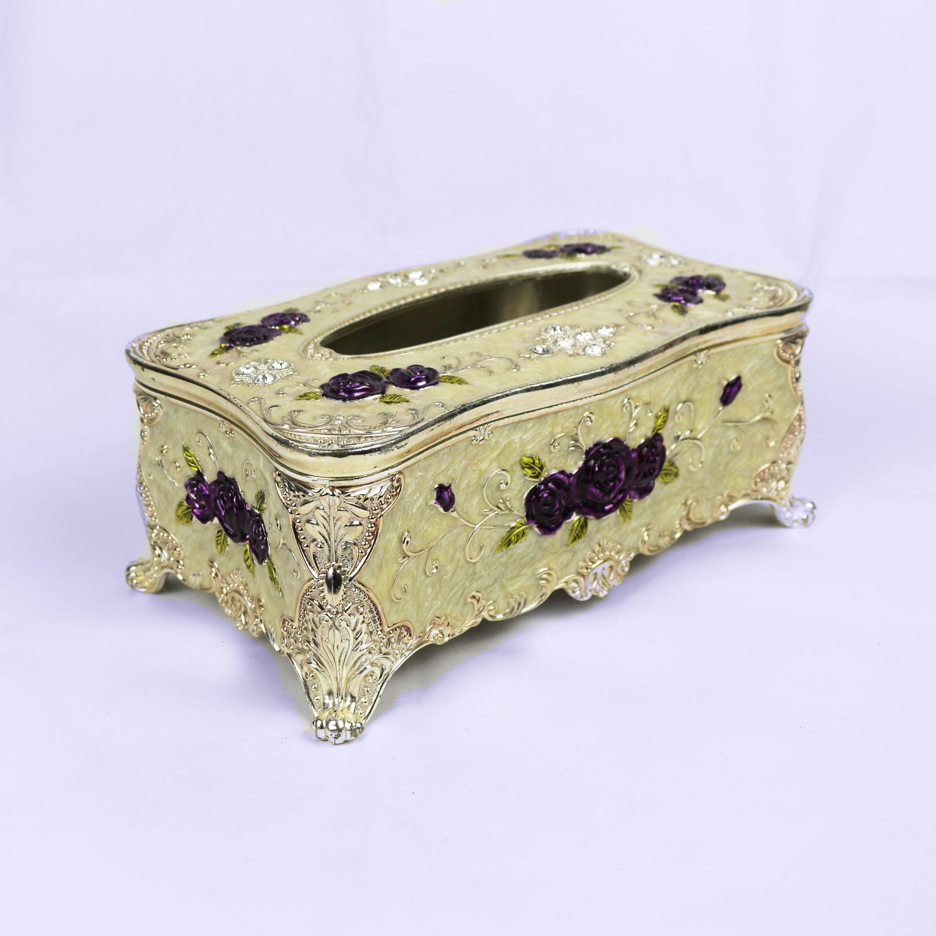 European retro rose tissue box