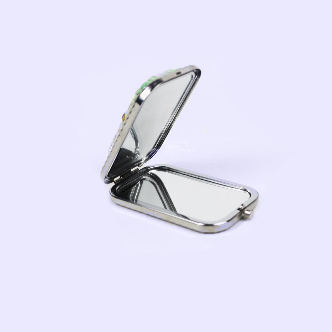 European retro silver double-sided mini mirror