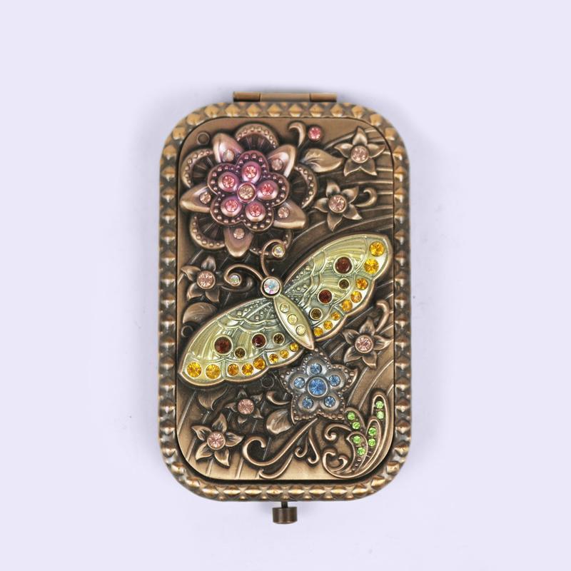 European retro butterfly pattern makeup mirror