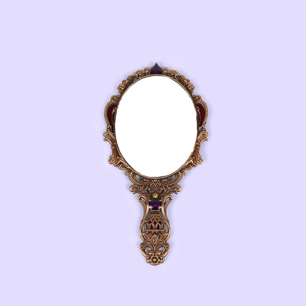 European retro castle portable hand mirror