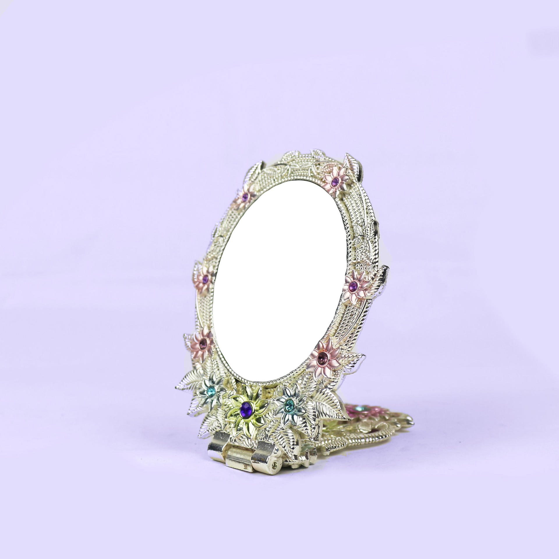 European retro fashion pattern folding mirror