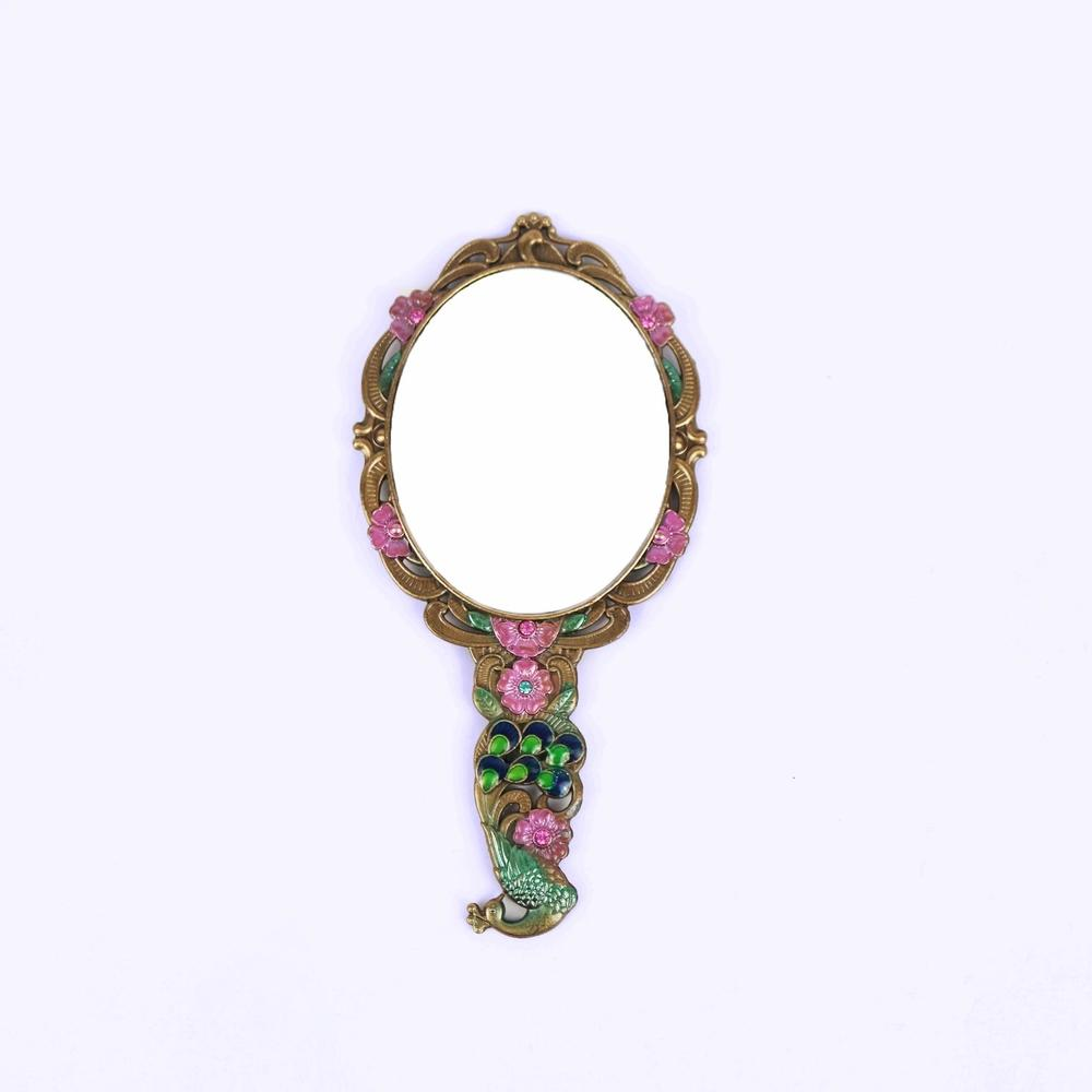 vaintage peacock mirror