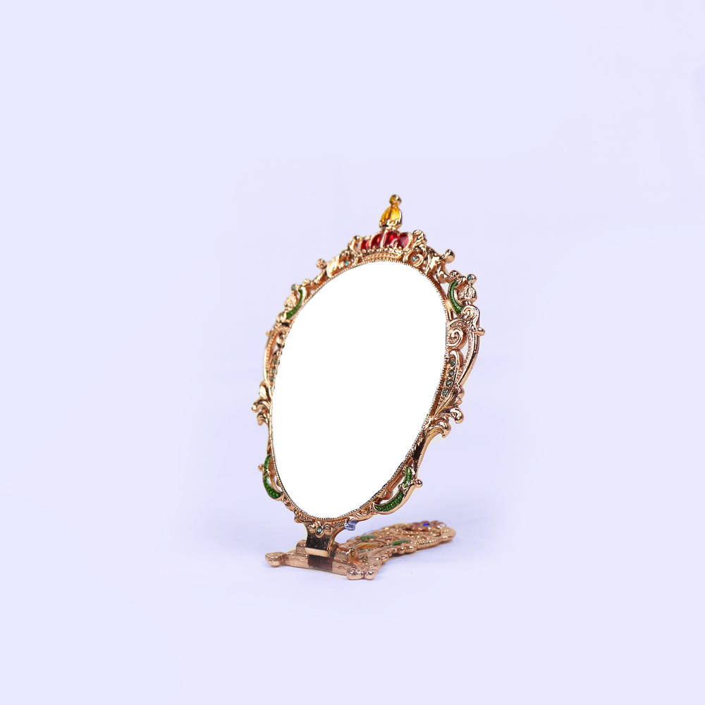 European vintage ancient rose pattern mirror