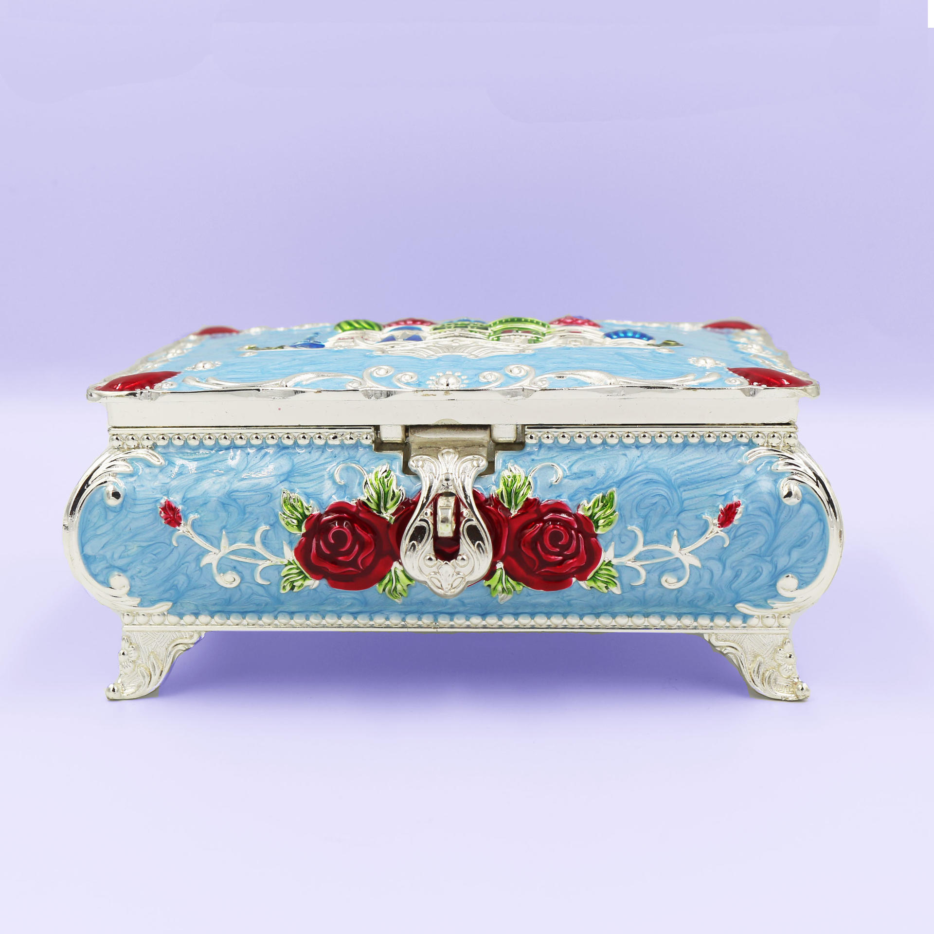 European retro high-end home jewelry box