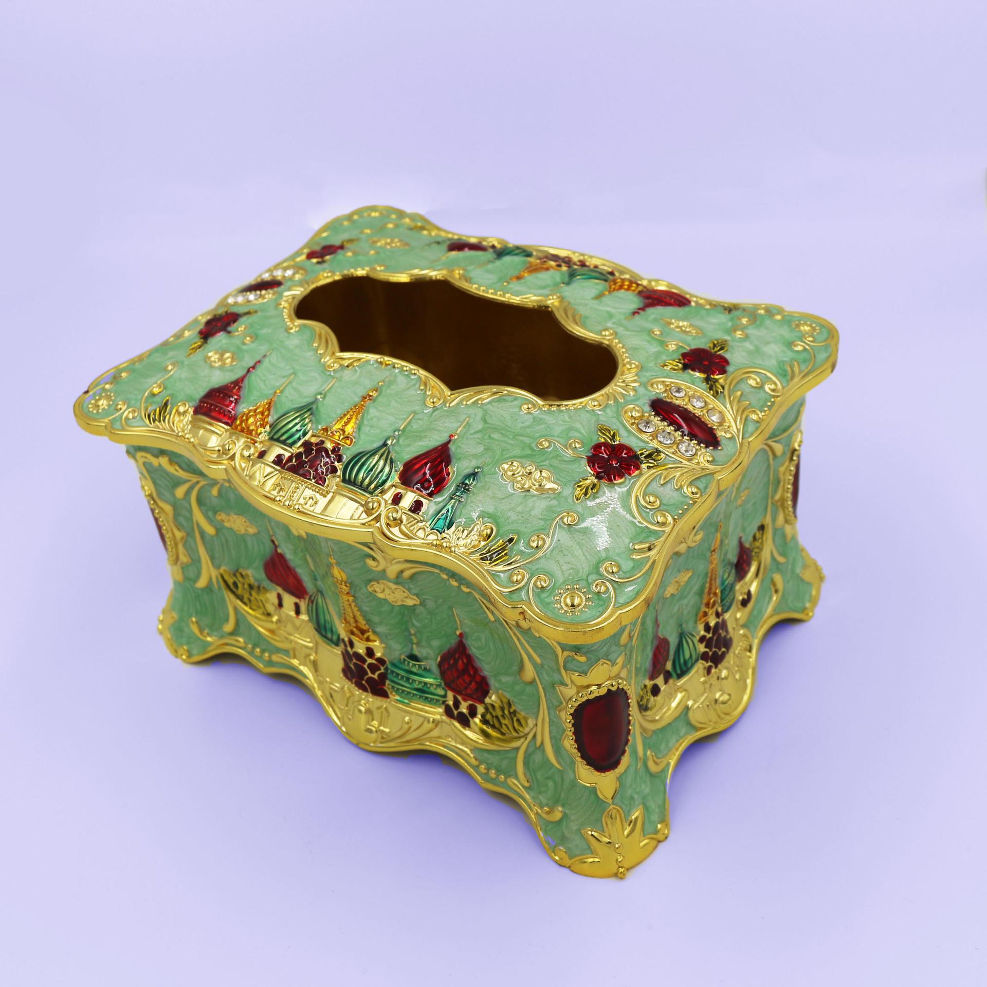 European retro fashion castle tissue box