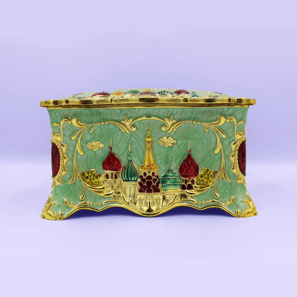 European retro fashion castle tissue box