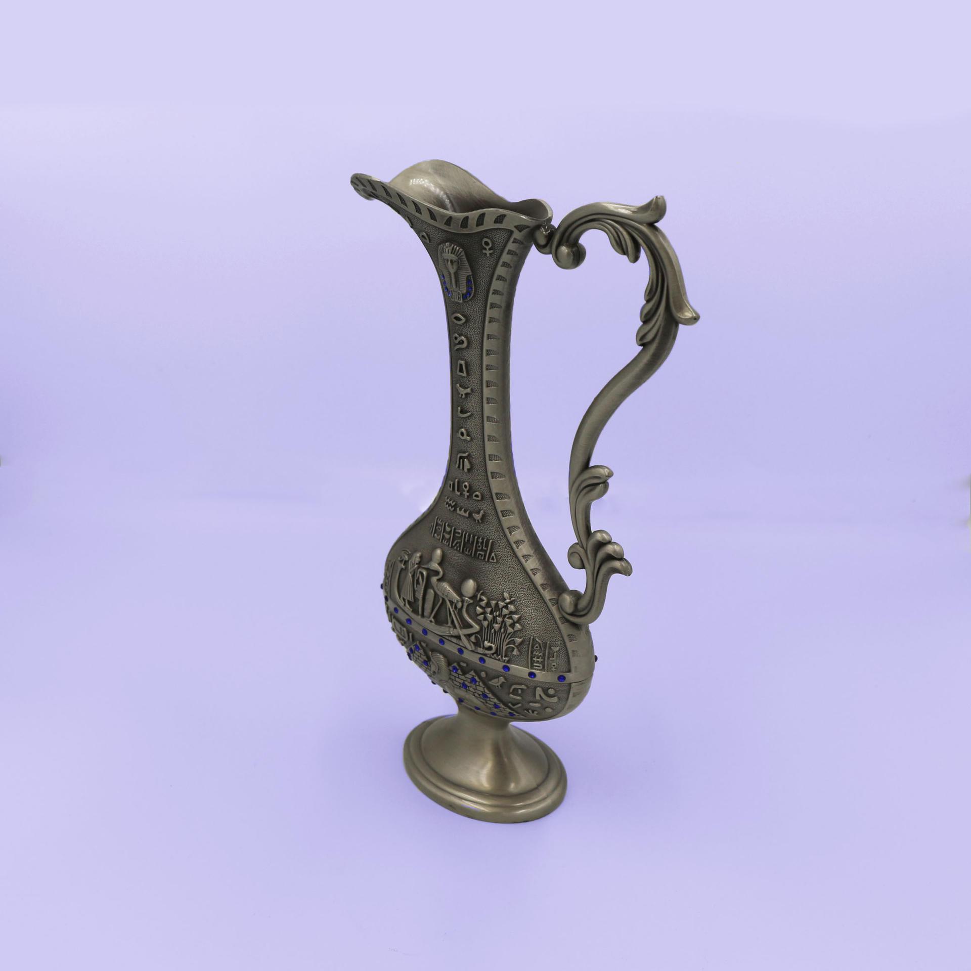 Retro flat pot vase craft ornaments