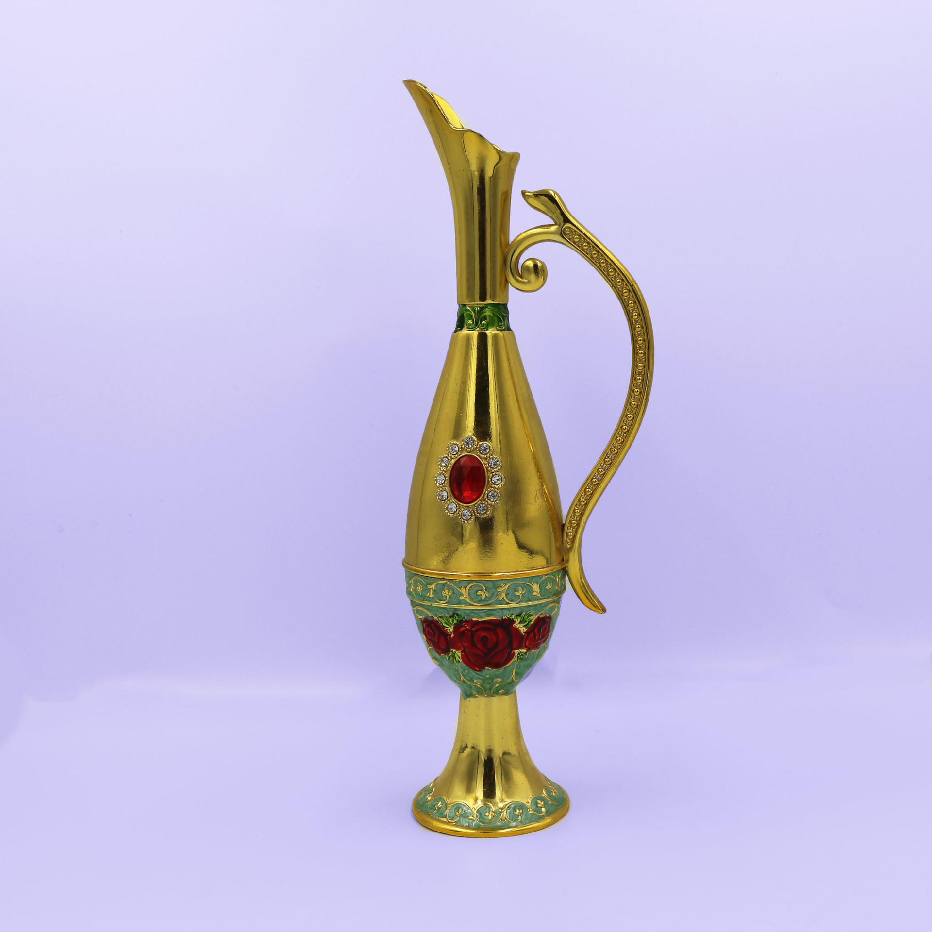 Vintage golden vase decoration