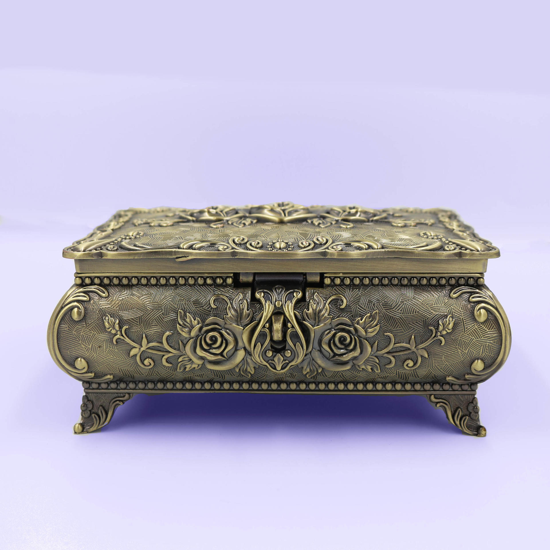 European retro rose high-end jewelry box