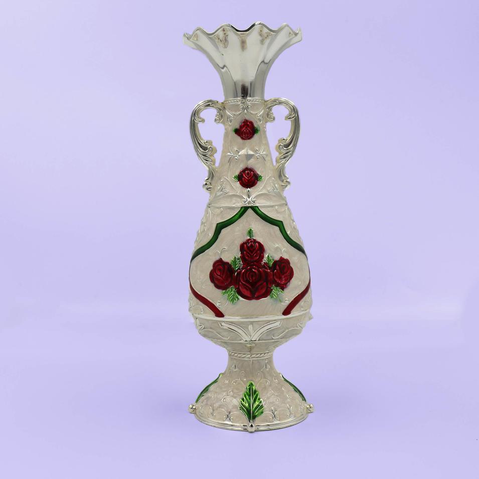 Vintage metal decorative flower vase
