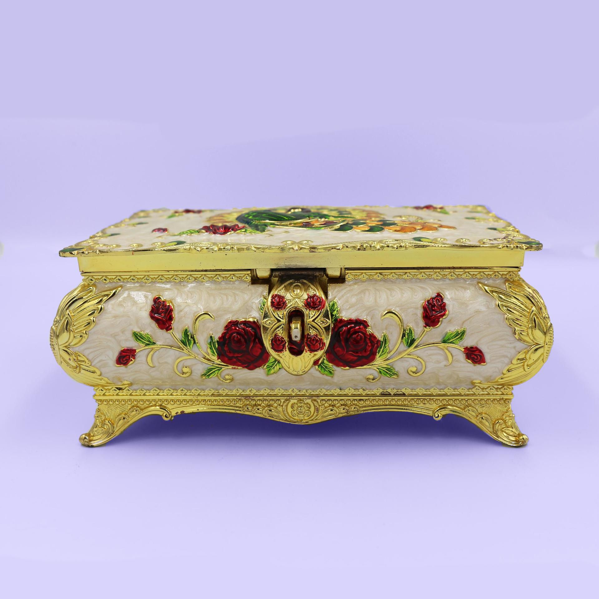 European retro high-end home jewelry box