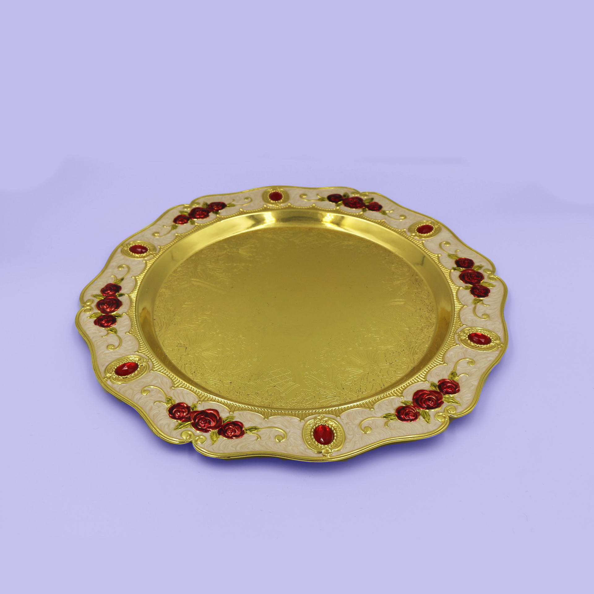 European retro wine glass tray set