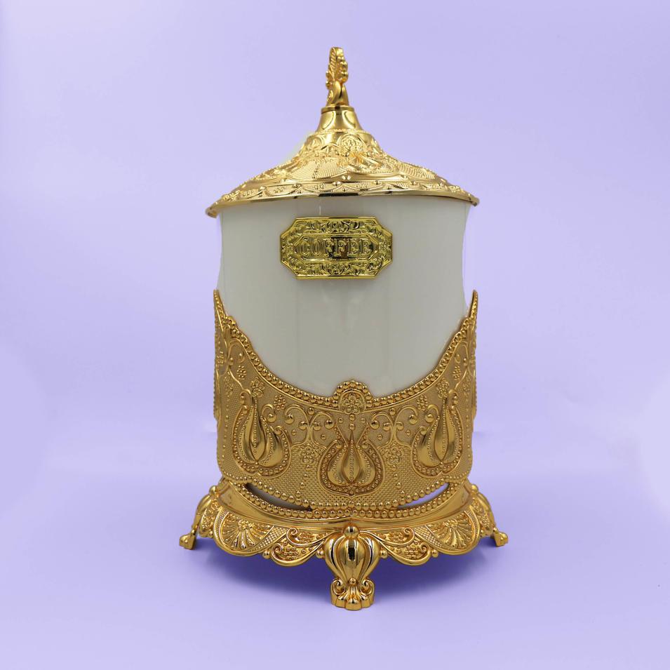 Vintage creative ceramic tea can
