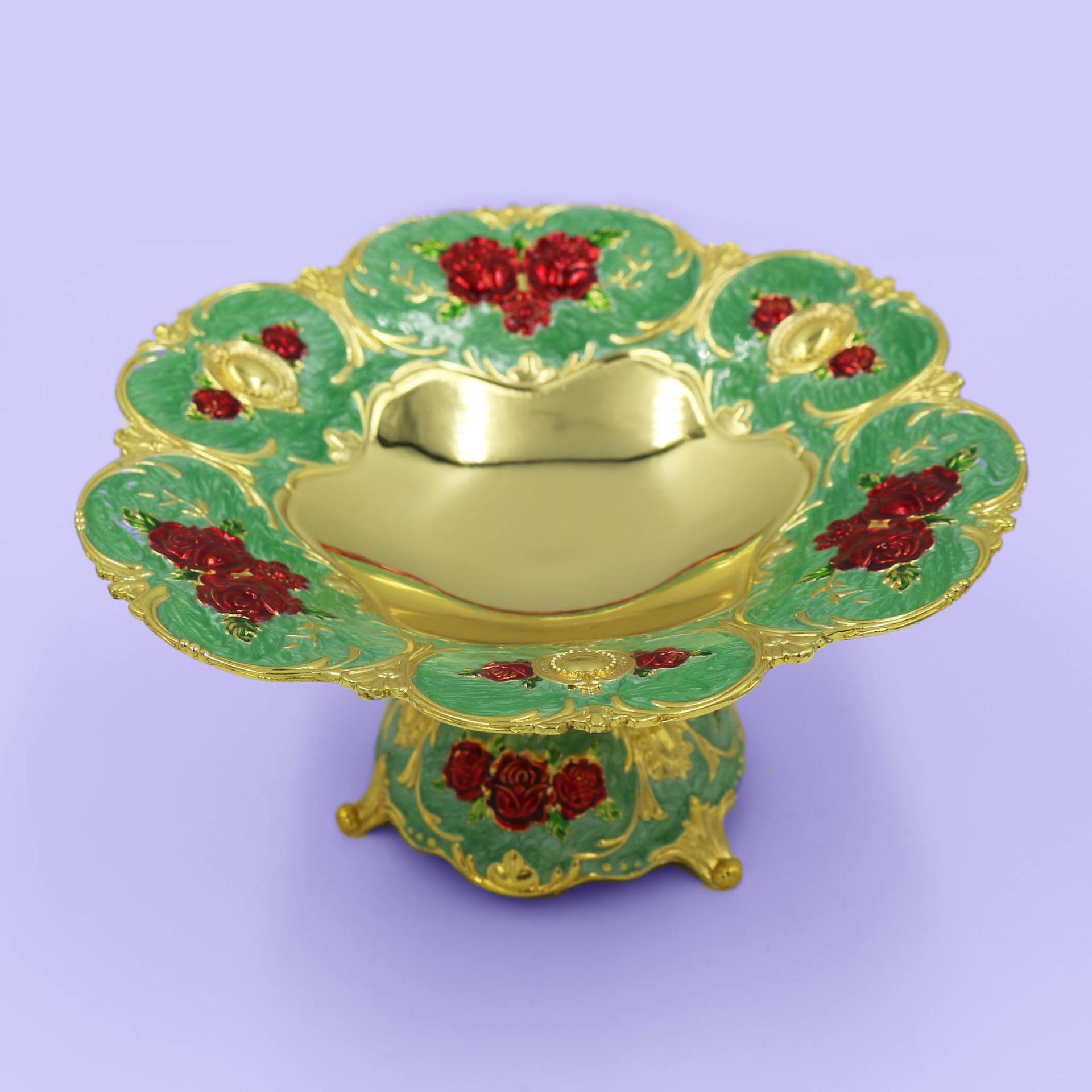 European retro delicate creative fruit plate