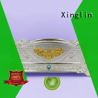 Xinglin latest silver tissue box supply for home
